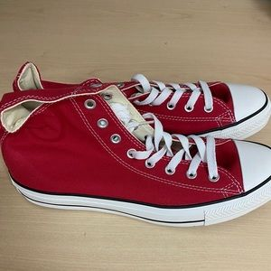 NEW CONVERSE MEN'S RED HIGH TOPS IN BOX!